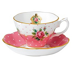 Royal Albert - 'Cheeky Pink' Pink cup and saucer