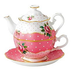 Royal Albert - 'Cheeky Pink' Pink teapot and cup
