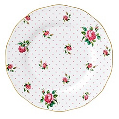 Royal Albert - 'Cheeky Pink' White small plate