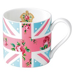 Royal Albert - 'Cheeky Pink' Union Jack mug