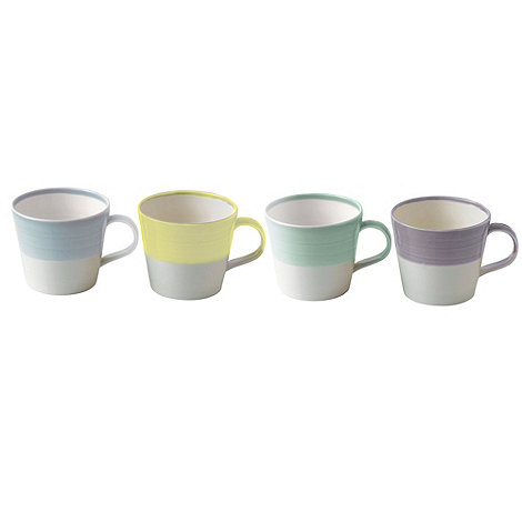 Royal Doulton - Set of four light porcelain mugs