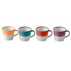 Royal Doulton - Set of four '1815' bright colour glazed mugs