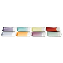 Royal Doulton - Pack of 8 multi-coloured glazed '1815' rectangular tapas trays
