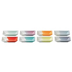 Royal Doulton - Pack of 8 multi-coloured glazed '1815' olive trays