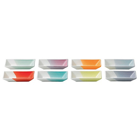 Royal Doulton - Set of eight '1815' coloured olive trays