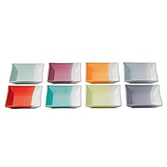Royal Doulton - Set of eight '1815' coloured square trays
