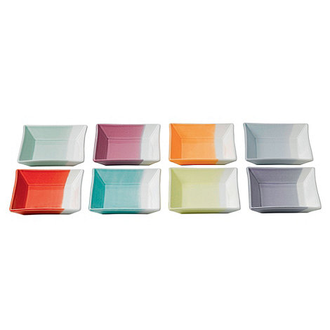 Royal Doulton - Set of eight +1815+ coloured square trays