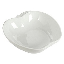 Ben de Lisi Home - White 'Dine' apple bowl