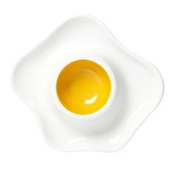 Ben de Lisi Home - Designer white egg fried egg cup