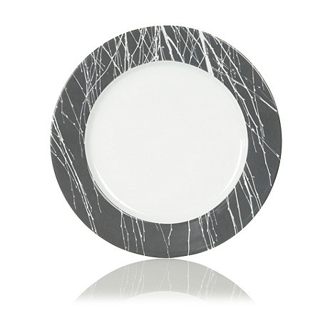 Betty Jackson.Black - White +Nordic+ charger plate