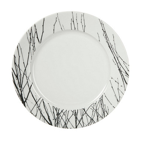 Betty Jackson.Black - White +Nordic+ dinner plate