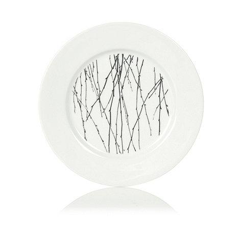 Betty Jackson.Black - White +Nordic+ dessert plate