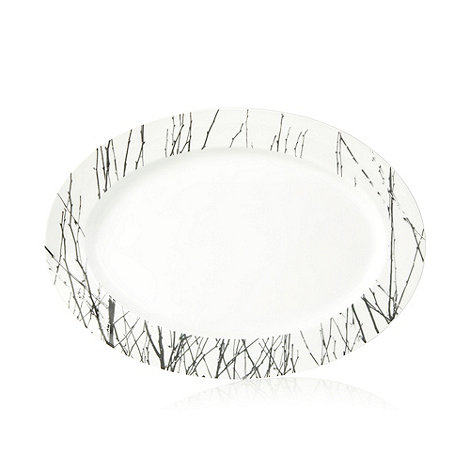 Betty Jackson.Black - Porcelain 'Nordic' serving platter