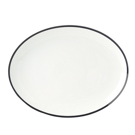 J by Jasper Conran - White +Henley+ Serving Platter