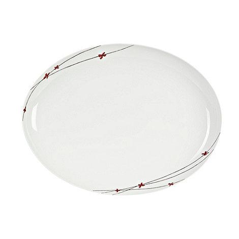 RJR.John Rocha - White +Isla+ oval platter