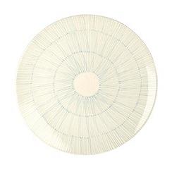 RJR.John Rocha - Cream 'Brushstroke' charger plate