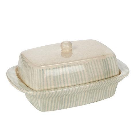 RJR.John Rocha - Cream +Brushstroke+ butter dish