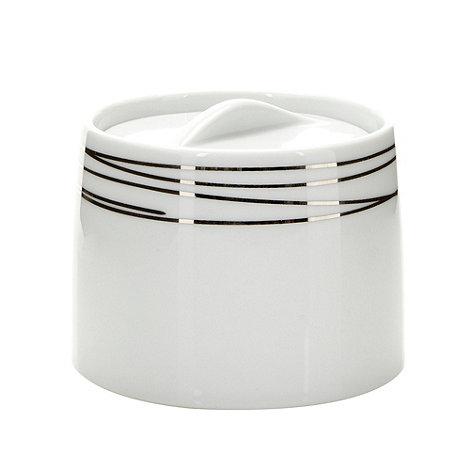 RJR.John Rocha - Designer porcelain silver etched sugar bowl