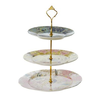Butterfly Home by Matthew Williamson Designer fine china peacock 3 tier cake stand - . -