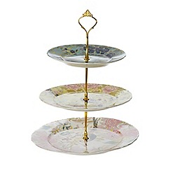 Butterfly Home by Matthew Williamson - Designer fine china peacock 3 tier cake stand