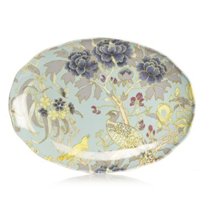 Butterfly Home by Matthew Williamson Designer fine china peacock sandwich plate - . -