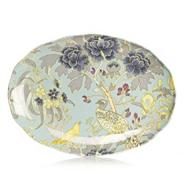 Designer fine china peacock sandwich plate