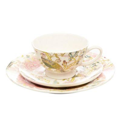 Butterfly Home by Matthew Williamson Designer fine china peacock 3 piece tea set - . -