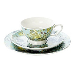 Butterfly Home by Matthew Williamson - Designer fine china peacock 3 piece tea set