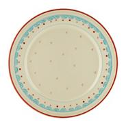 Earthenware 'Folk lore' dessert plate