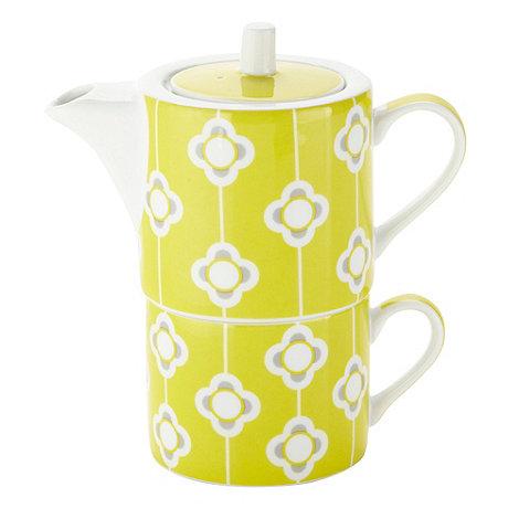 Debenhams - Porcelain lime flower tea for one