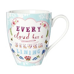 At home with Ashley Thomas - Porcelain 'Every cloud' mug