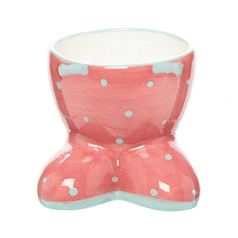 At home with Ashley Thomas - Pink ceramic spotted egg cups