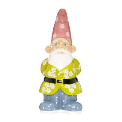 At home with Ashley Thomas Ceramic garden gnome - . -