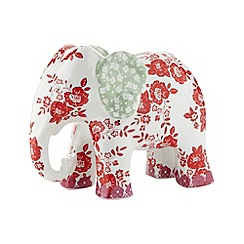 At home with Ashley Thomas - White floral elephant money box