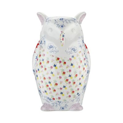 At home with Ashley Thomas Ceramic floral owl - . -