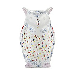 At home with Ashley Thomas - Ceramic floral owl money box