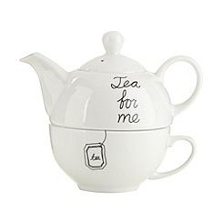 Debenhams - Porcelain 'For Me' tea for one set
