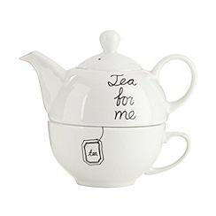 Debenhams - Porcelain 'For Me' tea for one set