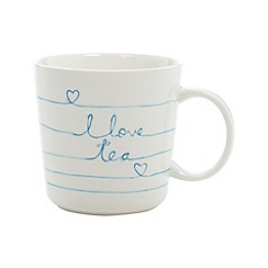 Debenhams - Stoneware 'Love Tea' mug