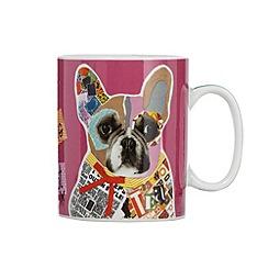 Ben de Lisi Home - Designer pink graphic print 'My dearest' porcelain mug