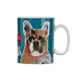 Ben de Lisi Home - Designer blue graphic print 'Old sport' porcelain mug