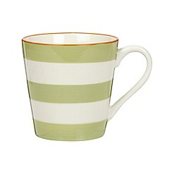 J by Jasper Conran - Designer stoneware green striped mug