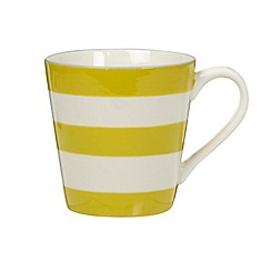 J by Jasper Conran - Designer stoneware yellow striped mug