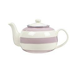 J by Jasper Conran - Designer stoneware lilac striped teapot