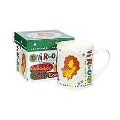 Debenhams - Green Virgo' zodiac china mug