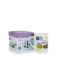 Debenhams - Libra zodiac mug in a box