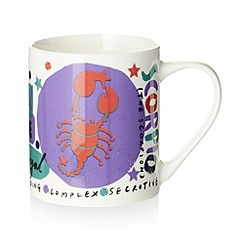 Debenhams - Scorpio zodiac mug in a box