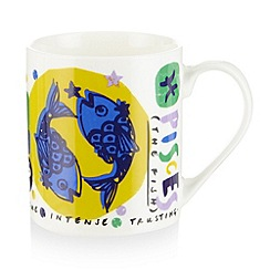 Debenhams - Pisces zodiac mug in a box