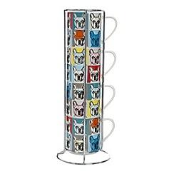 Ben de Lisi Home - Designer set of four fine china stacking mugs