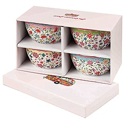 Queens - Set of four multicoloured 'Riviera' small bowls